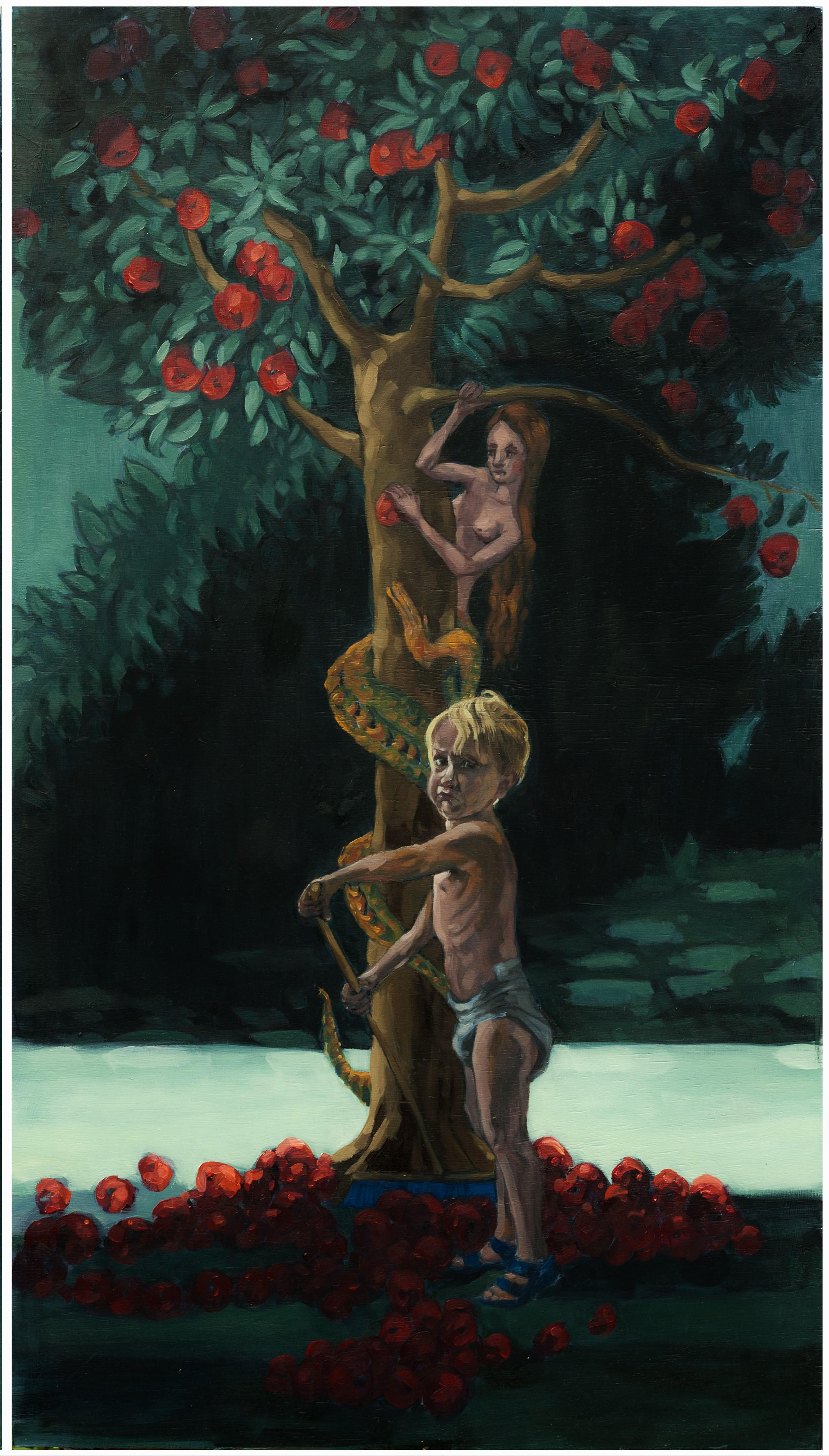 5.3 Madonna met kind, 2017, 96x54 cm, olieverf op paneel (binnenpaneel rechts)