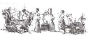 'Danse Macabre' I, triptych