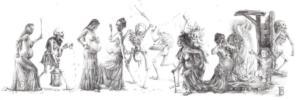'Danse Macabre' II, triptych