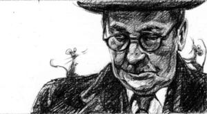 Portrait of writer Willem Elsschot