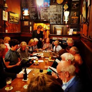 editorial meeting for literary-satirical magazine De God van Nederland